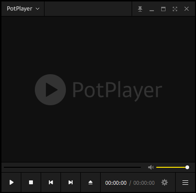 A screenshot of the main UI for Potplayer running on Windows 10 with no theme modifications.