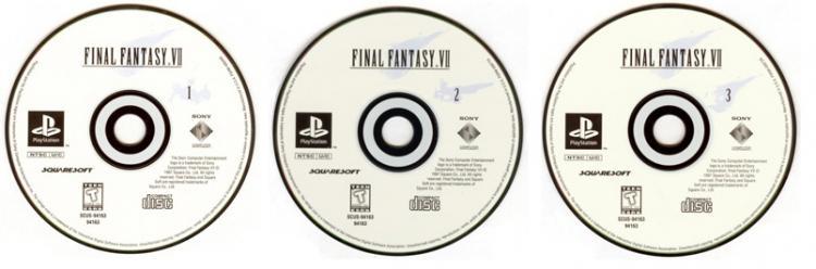 Final Fantasy VII discs