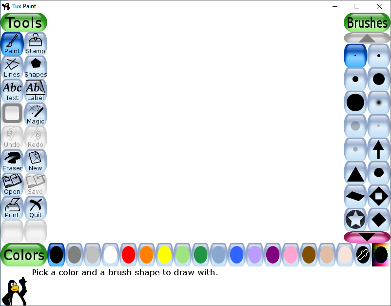 A screenshot of TuxPaint