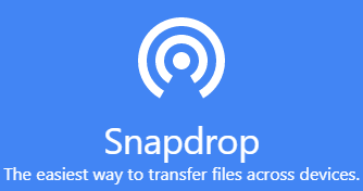 Airdrop from iPhone to Android with Snapdrop
