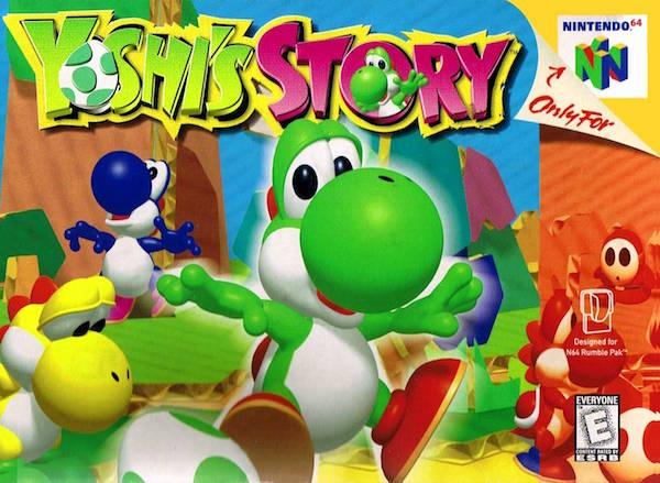 yoshis story n64 box art
