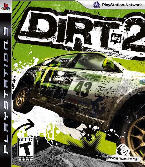 dirt 2 ps3 box art