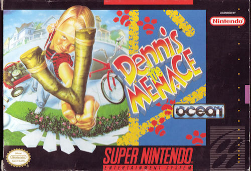 dennis the menace snes box art