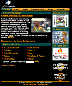 dreamcast browser website