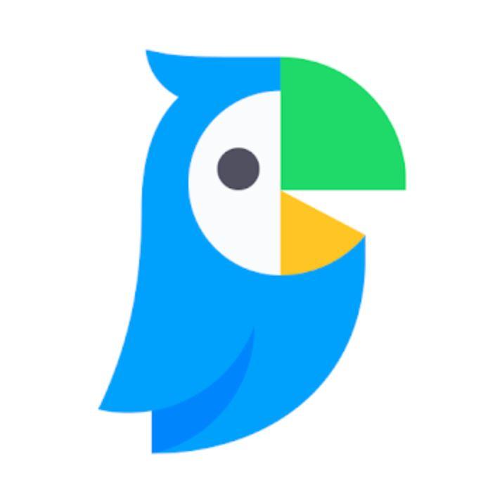 The parrot bird logo for Papago