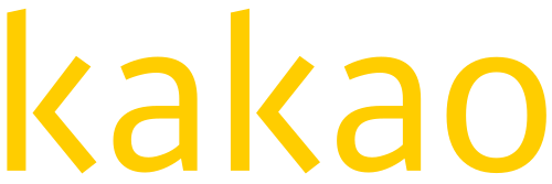 The logo for Kakao, an internet company formed from the merger of Daum Communications and Kakao in 2010.