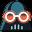 Dark Reader extensions' Darth Vader with shades logo