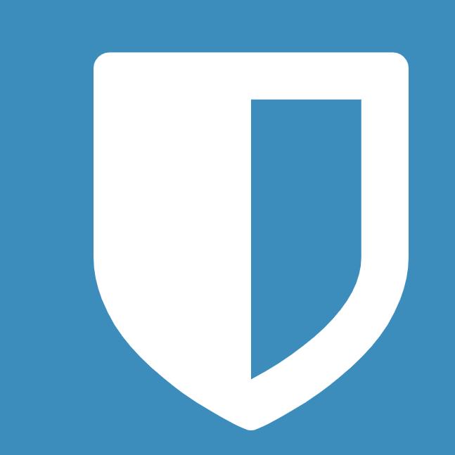 The bitwarden logo