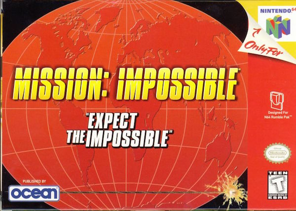 mission impossible n64 box art