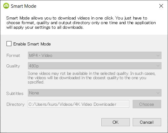 Smart Mode in 4K Video Downloader