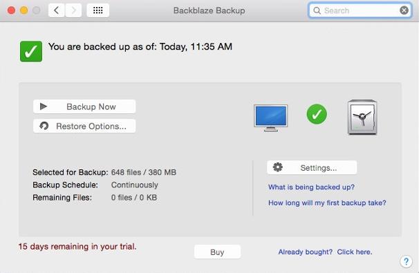 backblaze software
