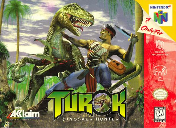turok dinosaur hunter n64 box art